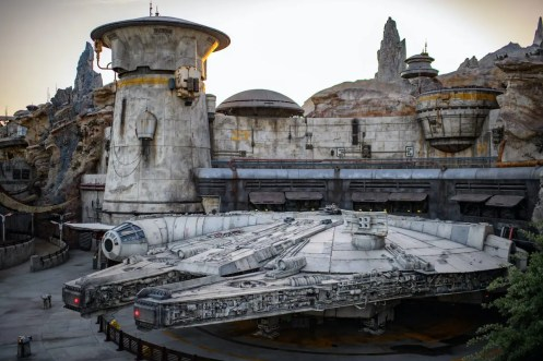 Star Wars: Galaxy's Edge at Disneyland Park in Anaheim, California and at Disney's Hollywood Studios in Lake Buena Vista, Florida, transports guests to Black Spire Outpost, a village on the planet of Batuu. Guests will discover two signature attractions – Millennium Falcon: Smugglers Run and Star Wars: Rise of the Resistance. (Richard Harbaugh/Disney Parks)