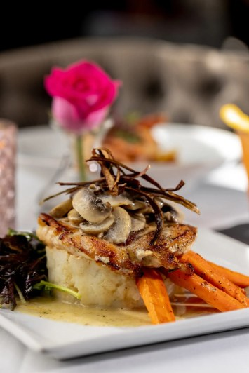 Pump_Truffle Mushroom Chicken with Shaved Crispy Asparagus-min