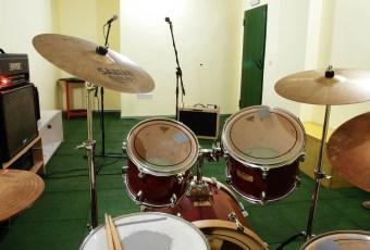 Interior de local de ensayo