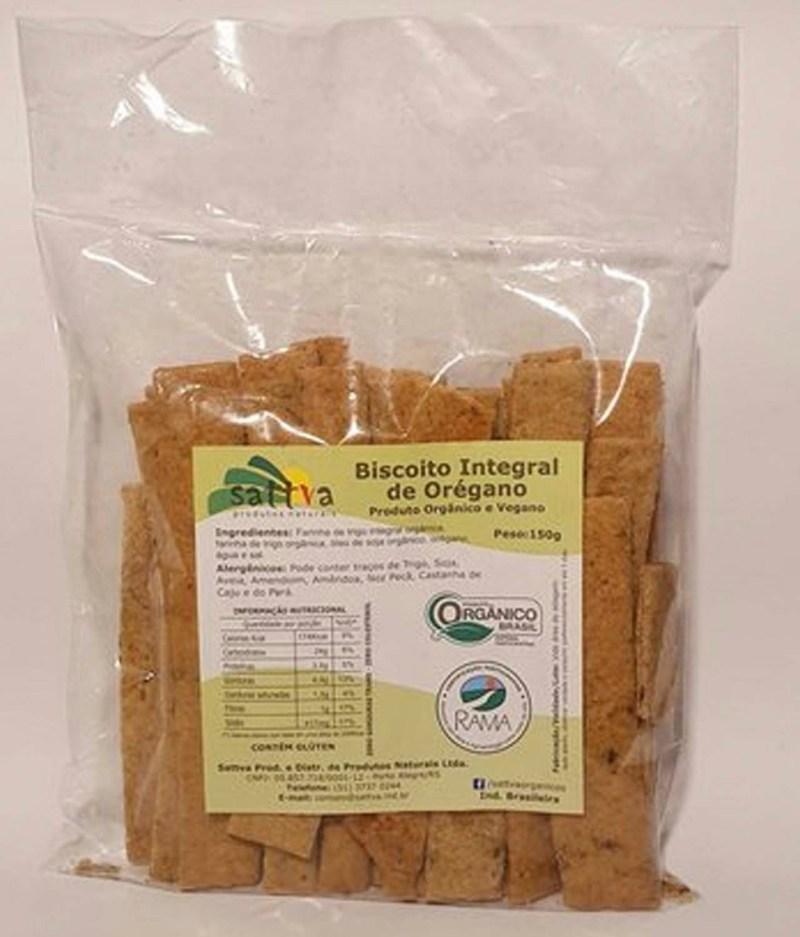 Biscoito Integral de Orégano Orgânico