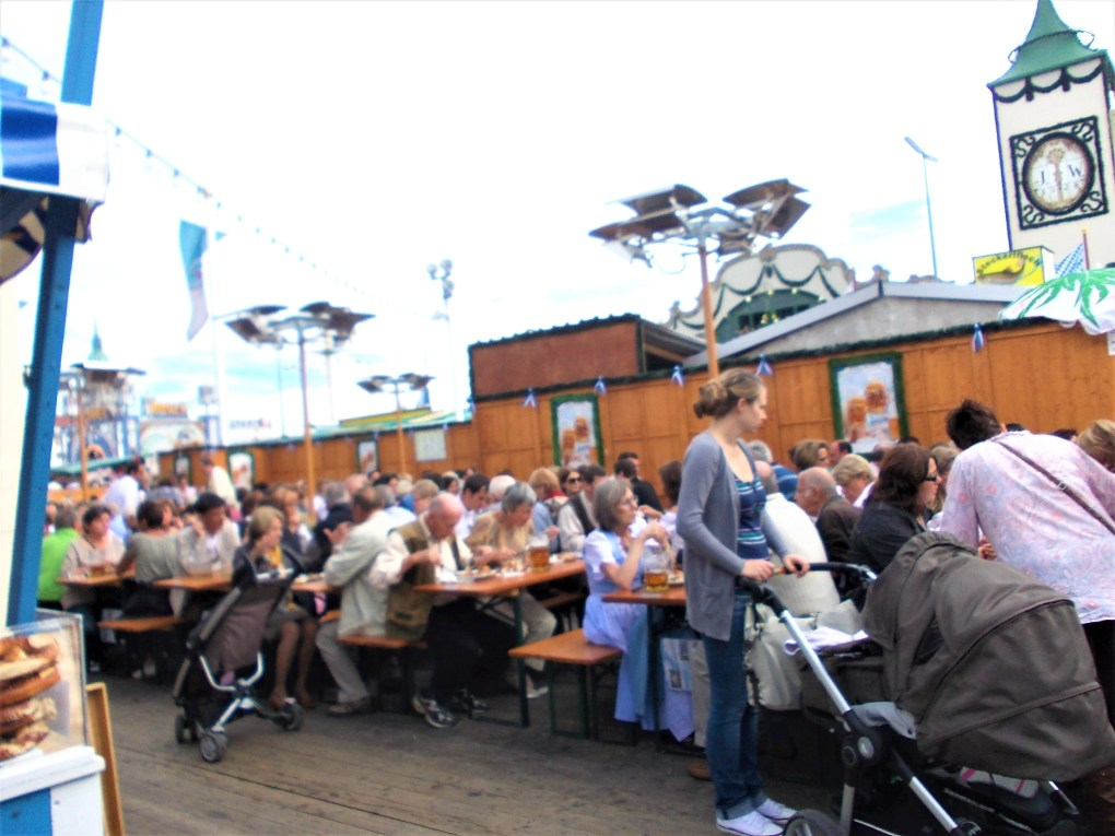 oktoberfest ground biergarten hackerr festzelt outside seating