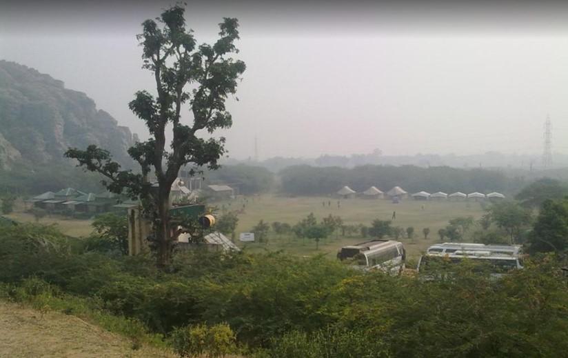 dhouj faridabad campsite aravallis