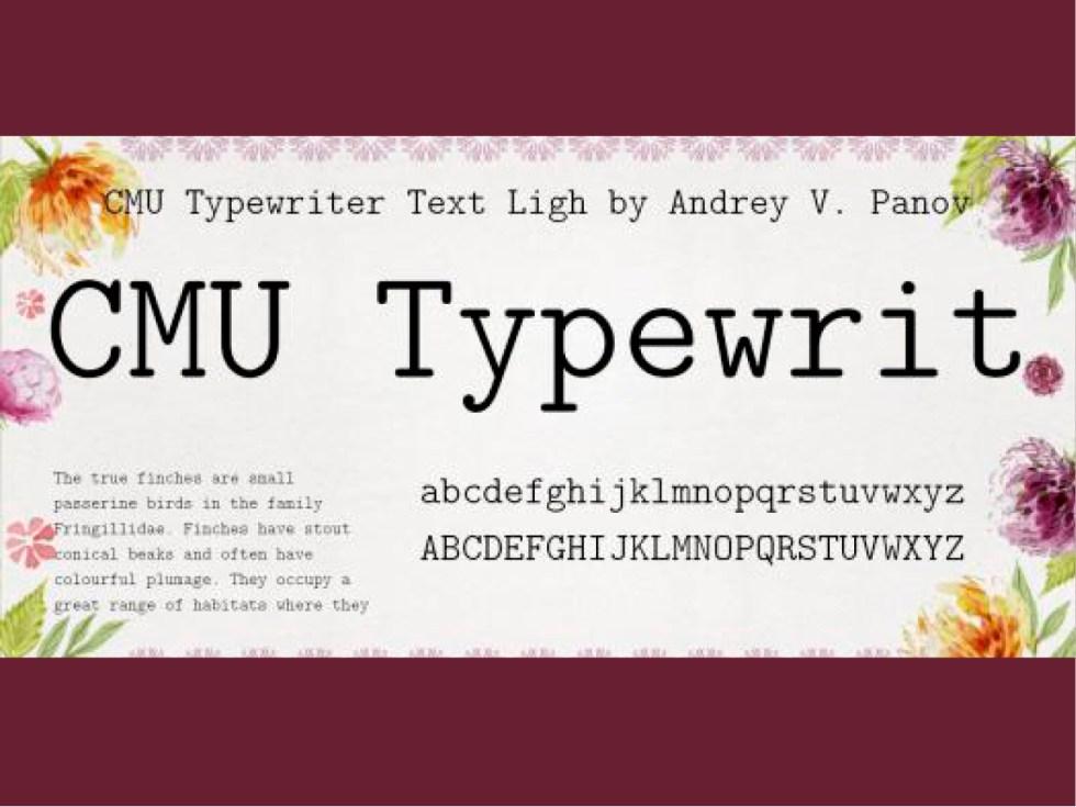 CMU Typewriter Text Light Computer Modern Typewriter Light