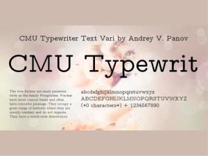 CMU Typewriter Text Variable Computer Modern Typewriter Variable