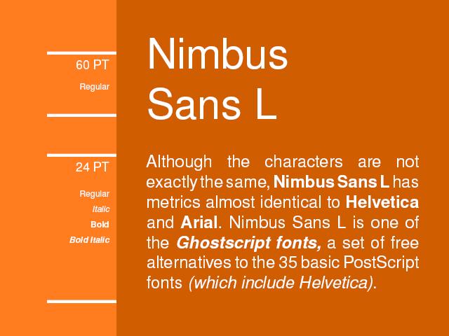 Nimbus Sans L