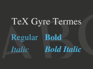 TeX Gyre Termes