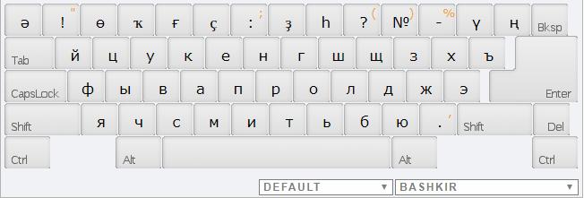 Bashkir online keyboard