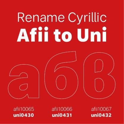 Afii To Unicode Map Cyrillic