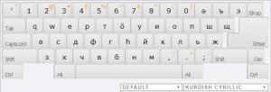 Kurdish Cyrillic Online Keyboard