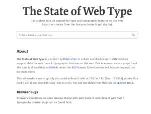 State of Web Type