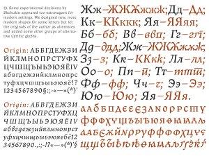 Old Roman style Cyrillic by Viktor Kharyk