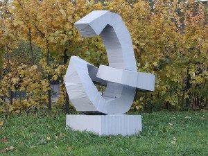 "Monument to the Russian letter ""Э"" in St. Petersburg"