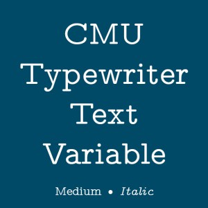 CMU Typewriter Text Variable