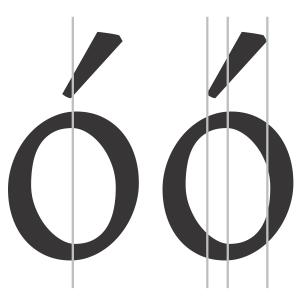 Diacritic design for Latin text faces