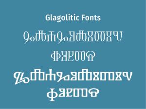 Glagolitic Fonts