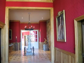 Chateau Haut Brion barrel anteroom with painting of Clarence Dillon photo by Paige Donner copyright 2017 IMG_2614