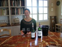 Paige in Chateau Haut Brion tasting room June photo copyright Paige Donner 2017 IMG_2656