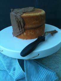 Vanilla Buttermilk Birthday Cake with Chocolate Frosting: Recipe by The Local Forkful