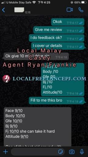 Local Freelance Girl - Malay - Casey