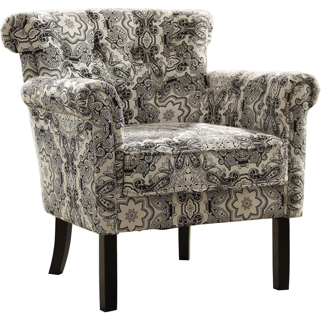 Paisley Chair Homelegance Barlowe Accent Chair In Paisley Print
