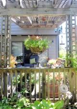 The pergola on the deck.