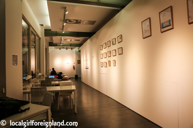 Inside Cibeles Palace (Madrid), work space