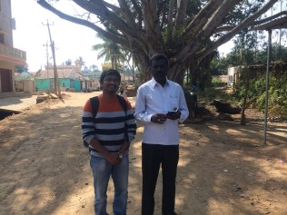 Met Mr. Chowdappa (SIRD resource person) at his village