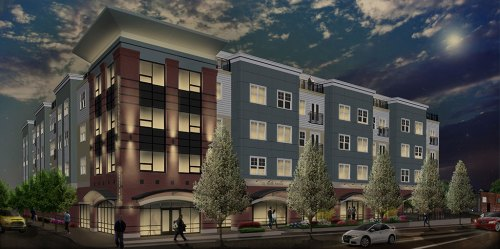 THIS FIVE-STORY, mixed-use condominium building will be constructed by the Maggiore Companies at 175 North Ave. in the next year. There will be 60 residential units with retail on the ground floor. The Zoning Board of Appeals approved permits and variances last week related to the project.