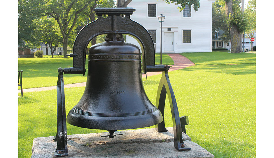 Historic fire bell restored, returned to Town Common