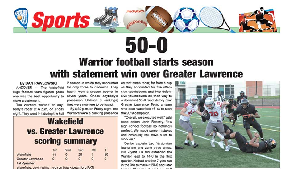 Sports Page: September 13, 2021
