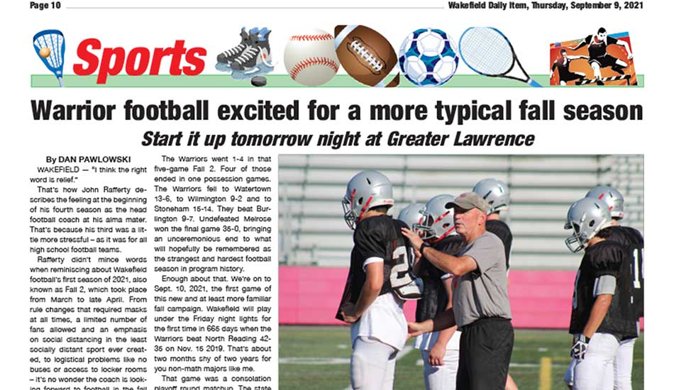 Sports Page: September 9, 2021