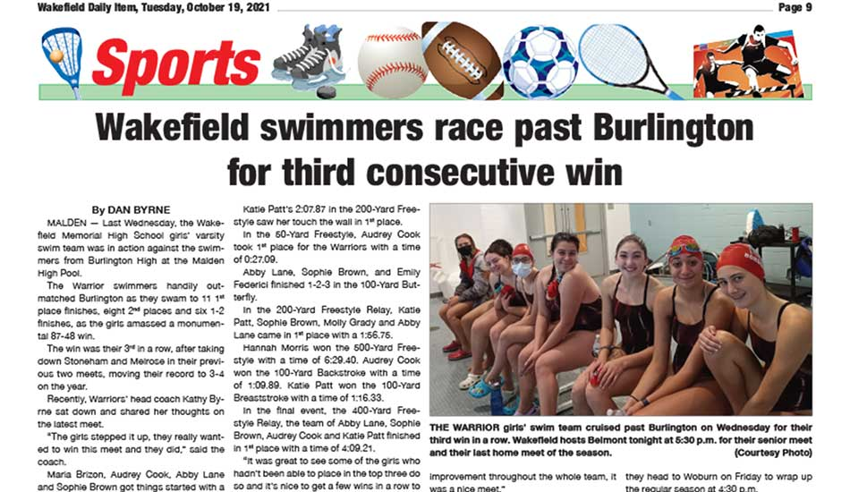 Sports Page: October 19, 2021