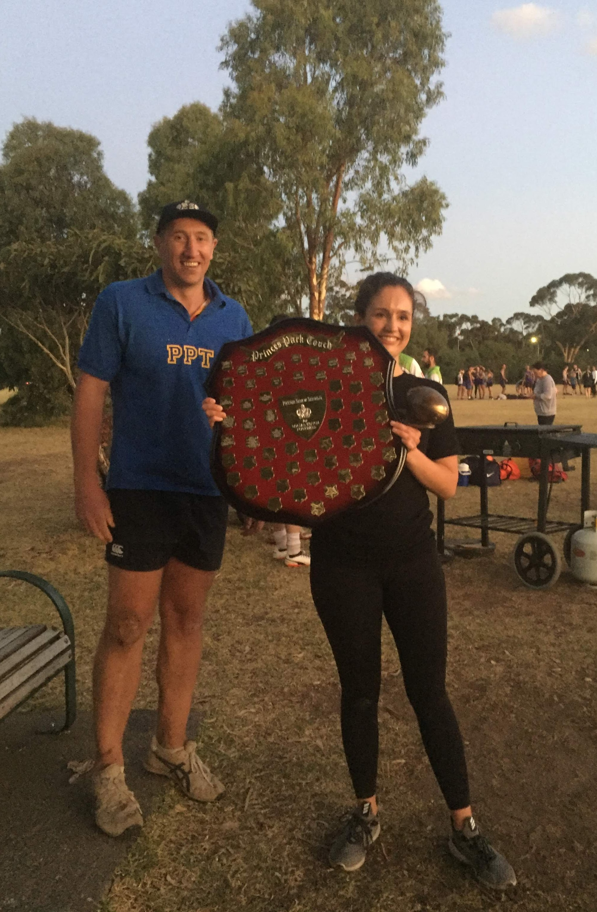 Pete And Laura, shield presentation