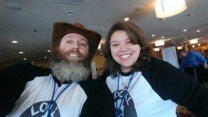 CEO Ian (beard) and Managing Editor Alicia (no beard)
