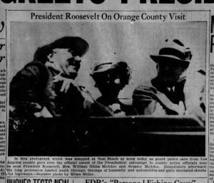 1938 - 07 16 - Jul 16 - Roosevelt in SB - Santa_Ana_Register_Sat__Jul_16__1938_(1)
