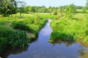River Eden and water meadows from near Penshurst