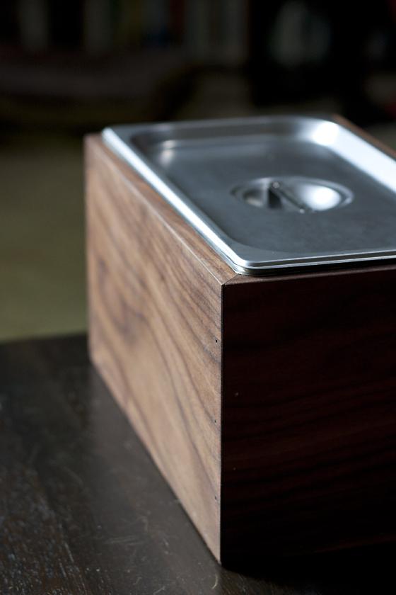 compost bin for kitchen cabinet hardware drawer slides diy walnut countertop