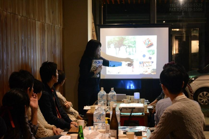 ソトコトの地域との活動について語る編集部の竹中さん