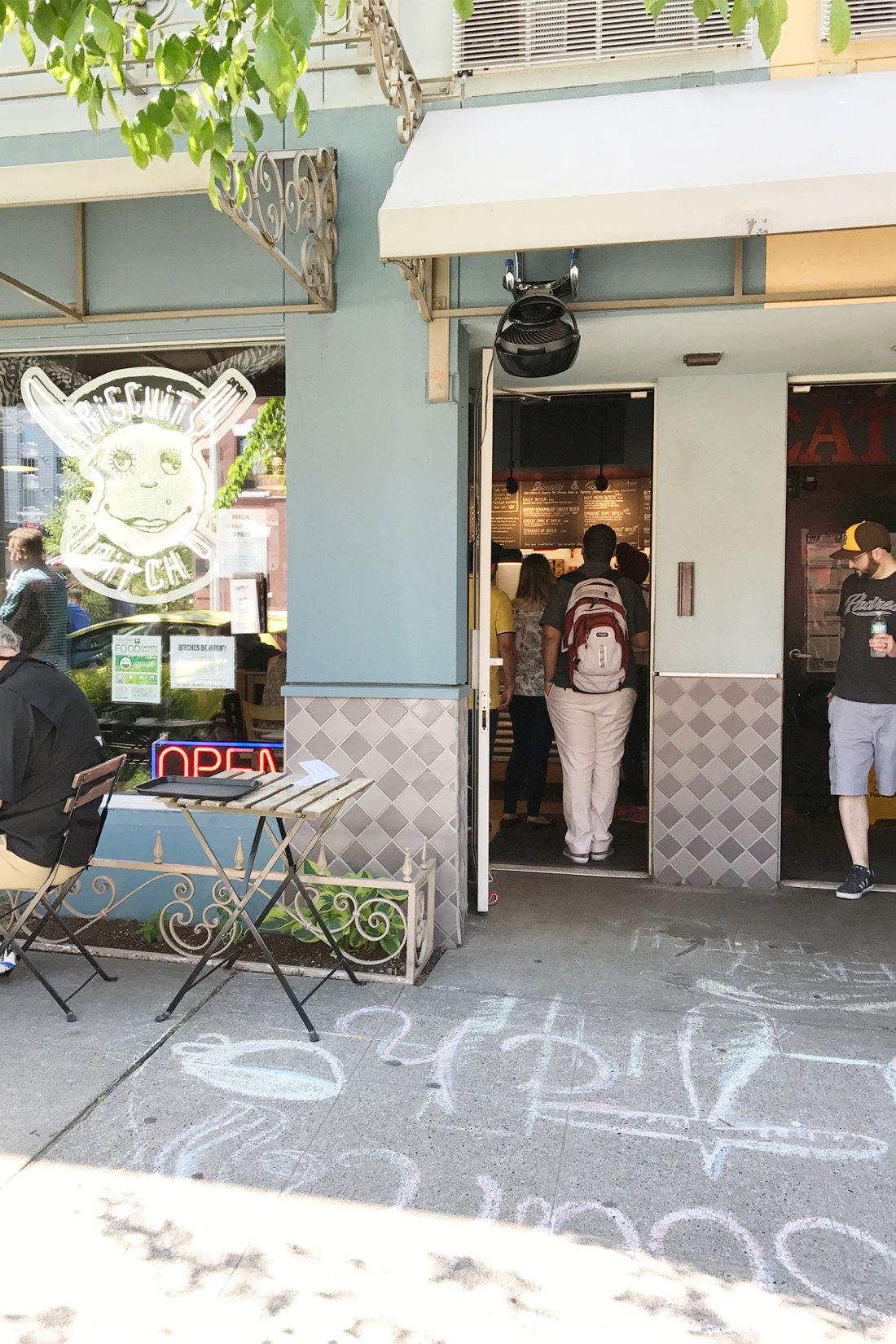 Entrance of Biscuit Bitch restaurant