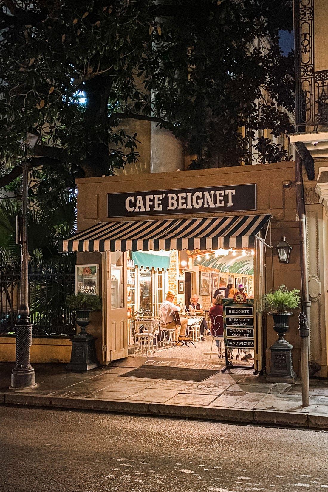 Small cafe at night