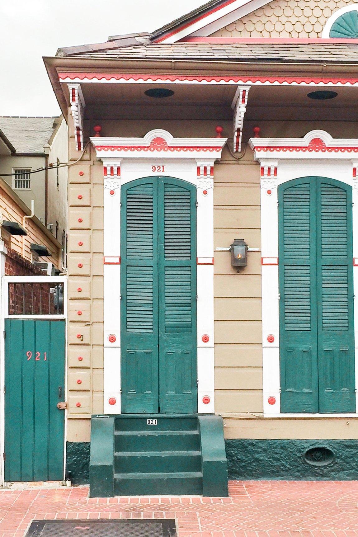 Colorful Doorway in New Orleans