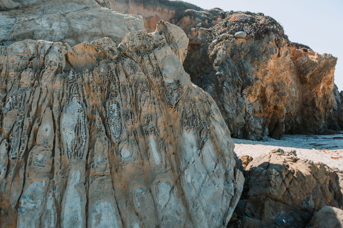 Sandstone Rocks on Garrapata Beach | as seen on the Local Love and Wanderlust Blog