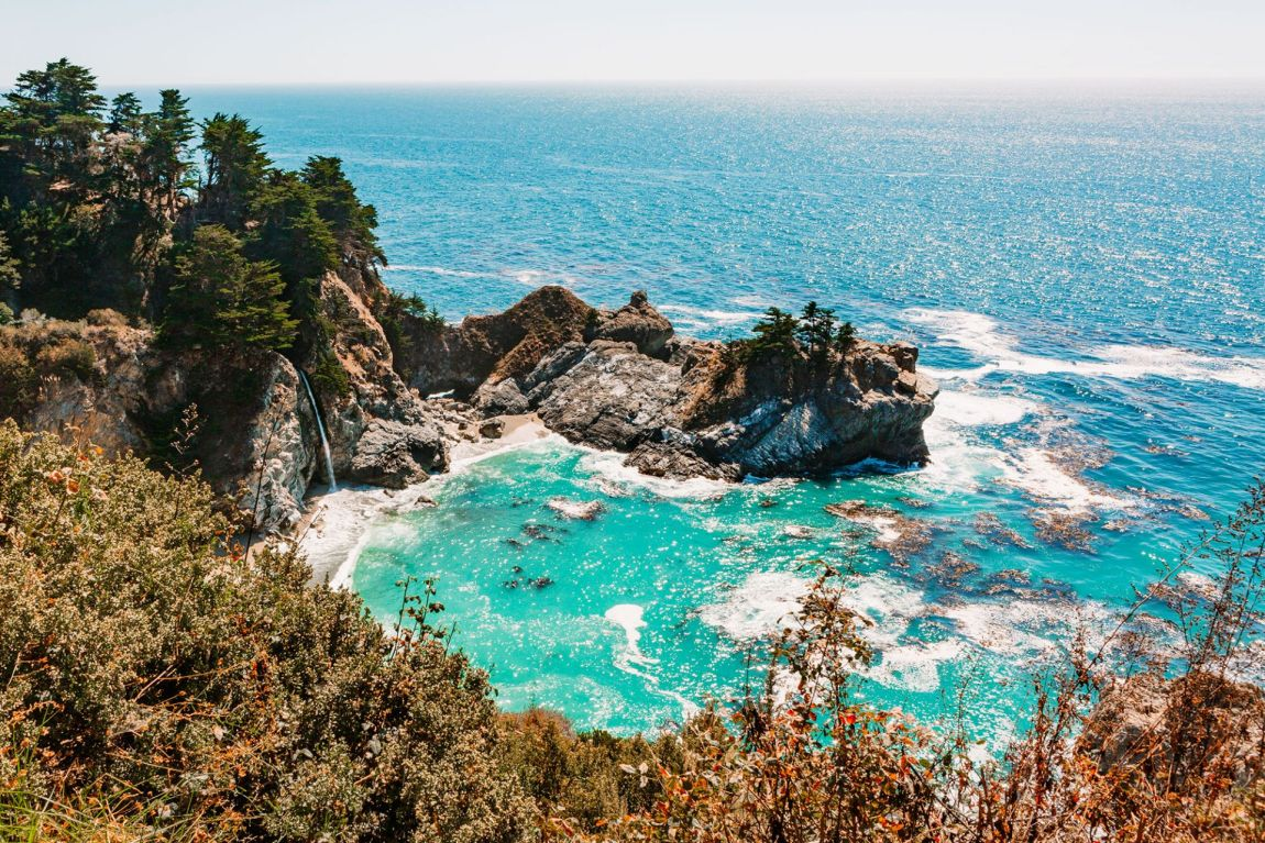 Beautiful McWay Falls in Big Sur, California | as seen on the Local Love and Wanderlust Blog
