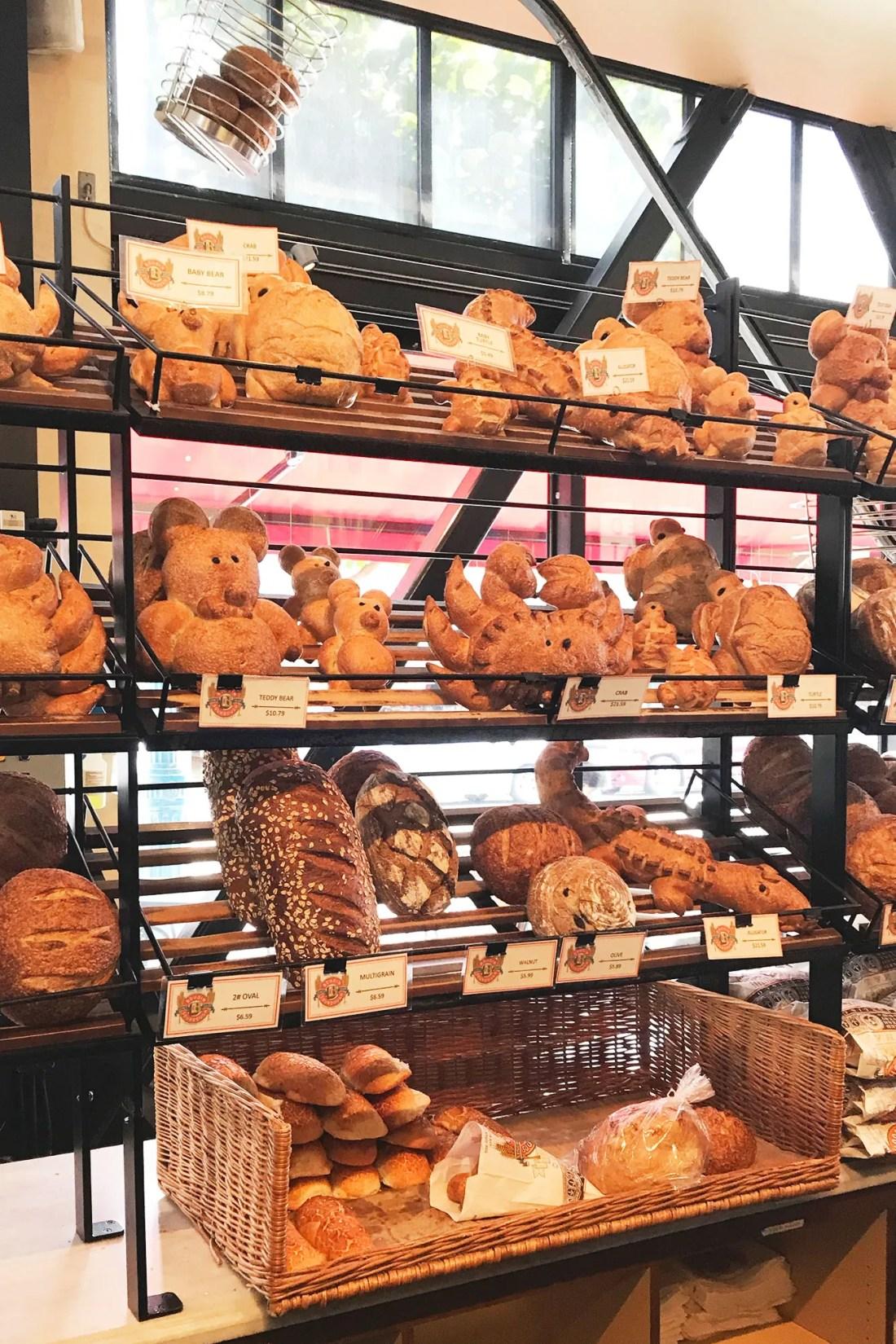 Fun shaped bread found in Boudin Fishermans Wharf San Francisco, California   Local Love and Wanderlust