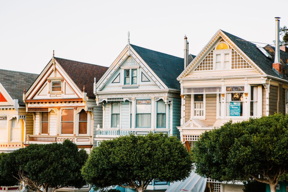 Three colorful homes known as The Painted Ladies near Alamo Square San Francisco, California | Local Love and Wanderlust