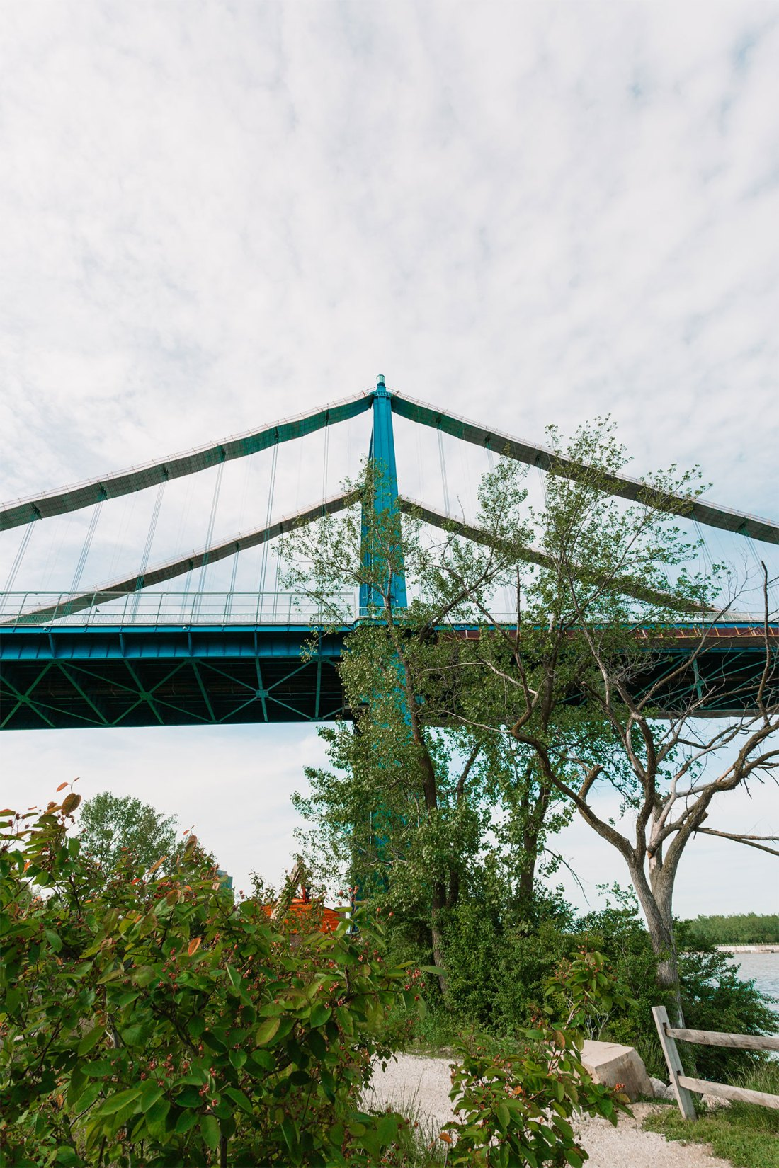 Anthony Wayne Bridge over Middleground's a Toledo, Ohio Metropark