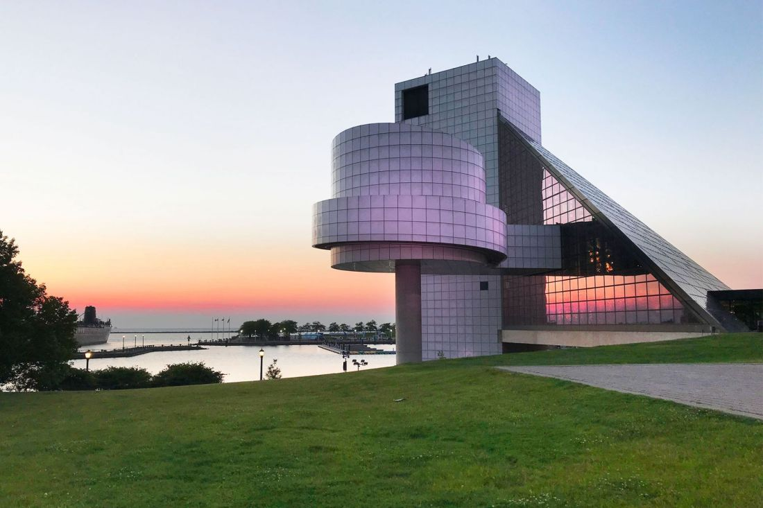 Rock and Roll Hall of Fame during sunset