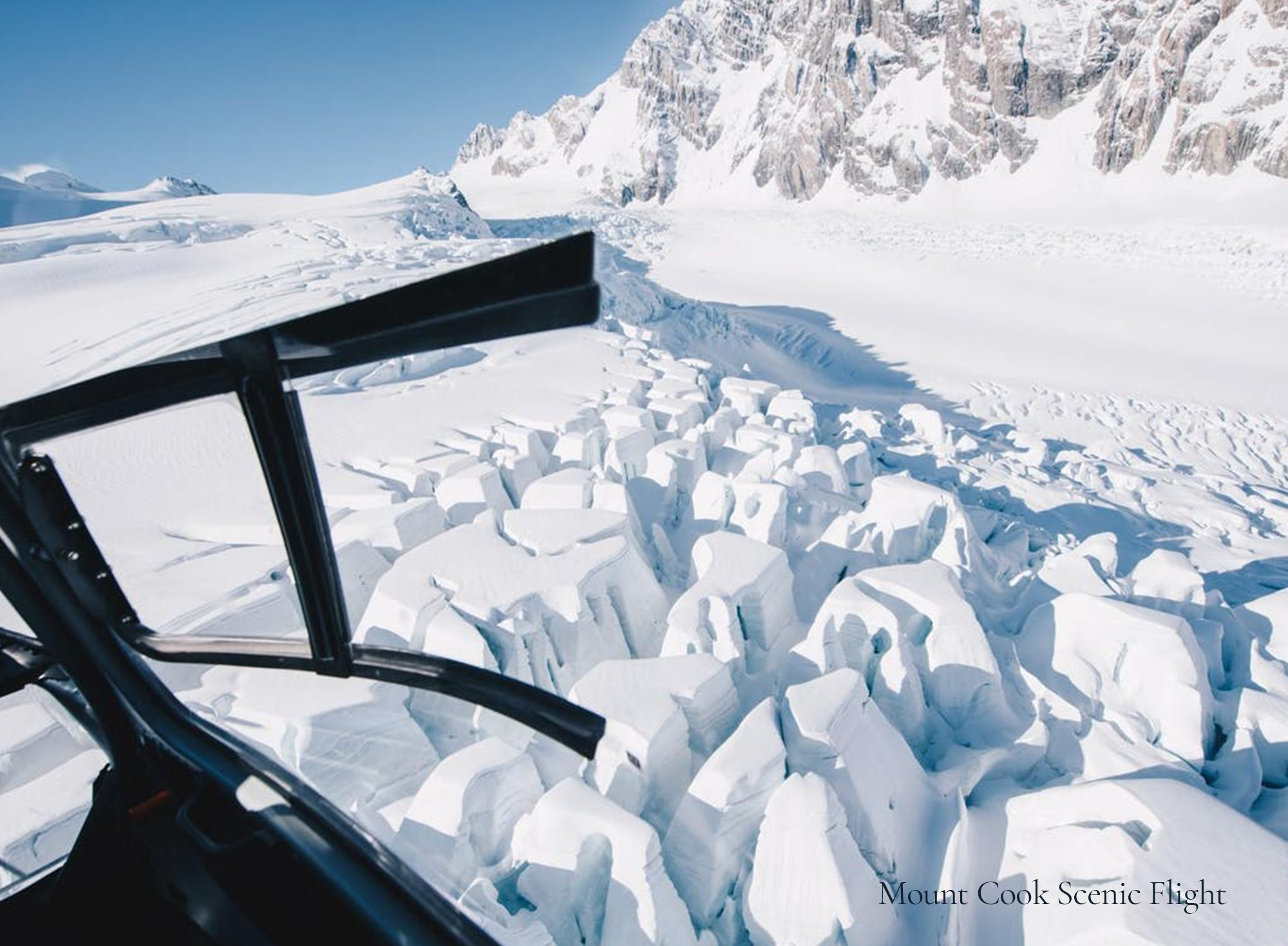 Mount Cook Flight - Aerial picture