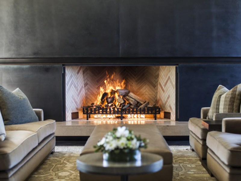 Cooper Residence fire place