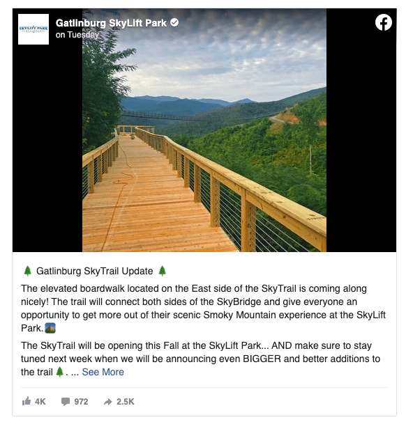 Example of an embedded Facebook post